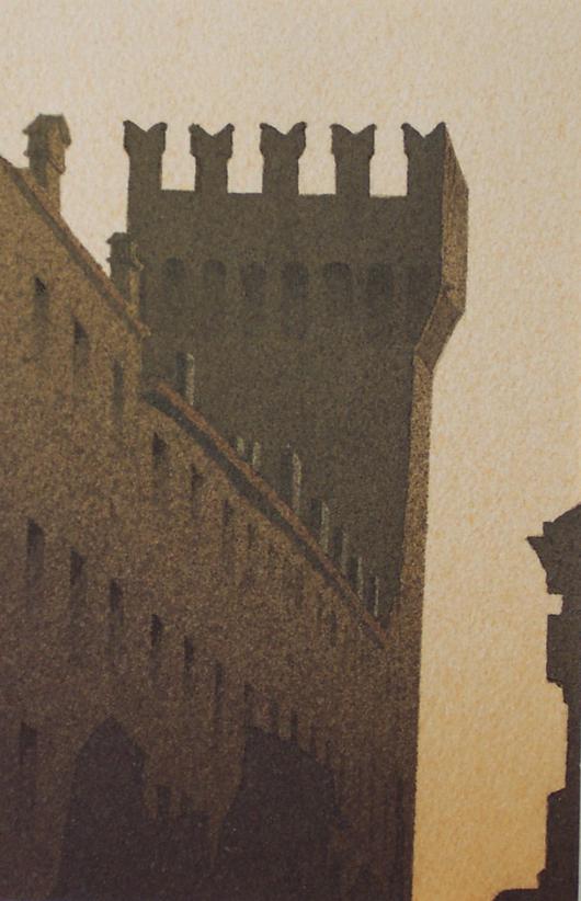 Cortevecchia, 2007, tecnica mista su carta, cm 18x24