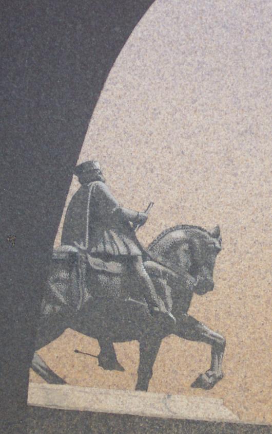 A cavallo, 2007, tecnica mista su carta, cm 18x24