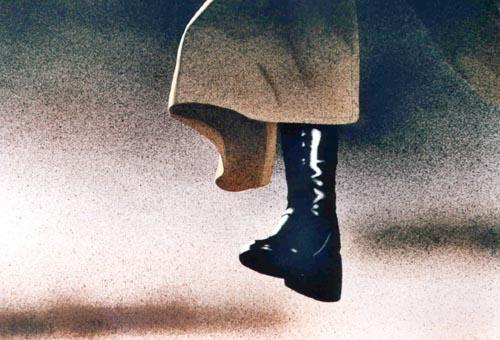 Il salto, 2001, acquerello, cm 46x61