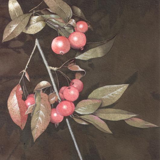 Rosse, 2010, tecnica mista su carta, cm 20x20