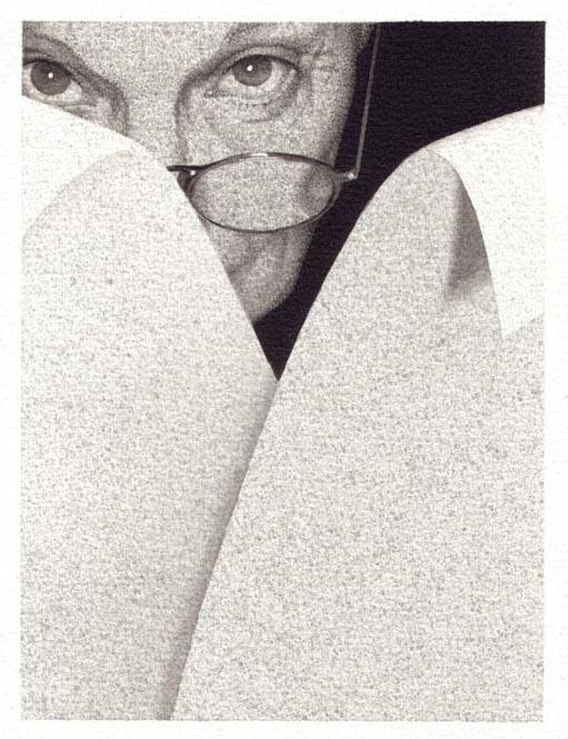 Autoritratto, 2003, inchiostro di china su carta, cm 18x24