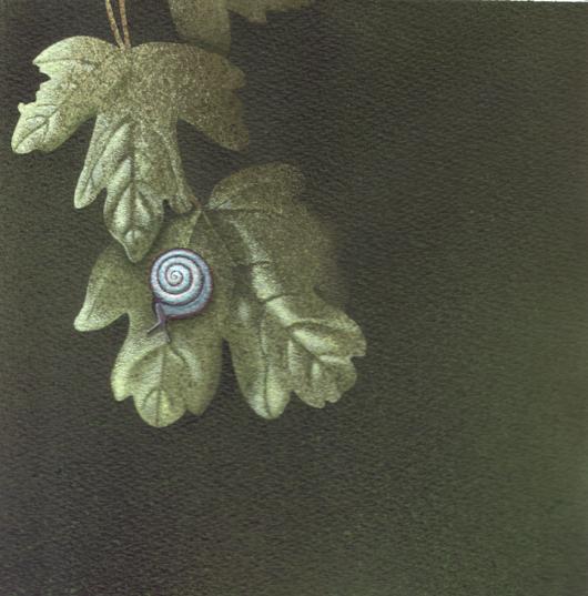 Chiocciolina, 2010, tecnica mista su carta, cm 20x20