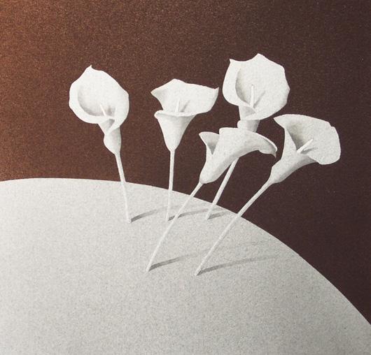 Cinque, 2006, tecnica mista su carta, cm 30x30