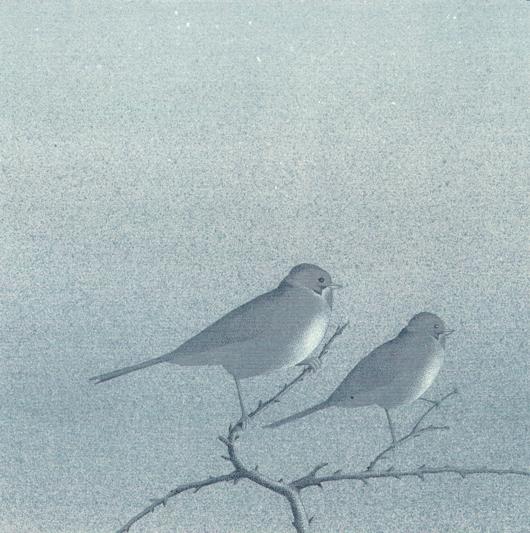 In due, 2007, tecnica mista su carta, cm 30x30