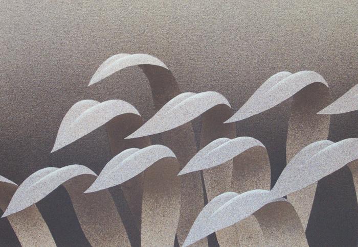 Vento, 2006, tecnica mista su carta, cm 30x50