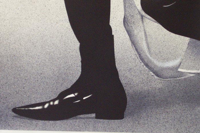 Con velo, 2002, tecnica mista su carta, cm 36x51