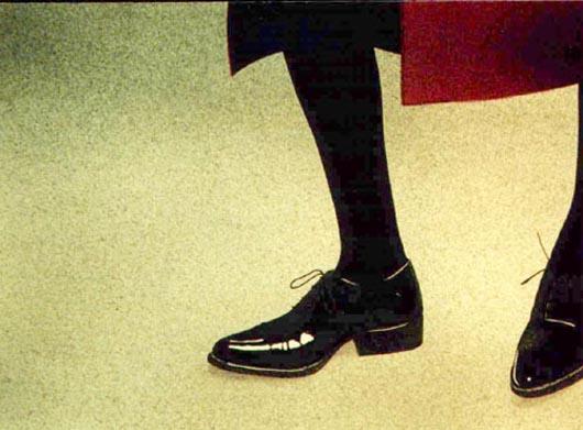 Cappotto rosso, 2002, tecnica mista su carta, cm 36x51