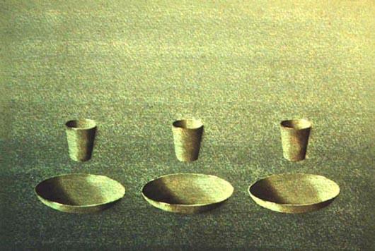 Per tre, 2001, tecnica mista su carta, cm 26x36
