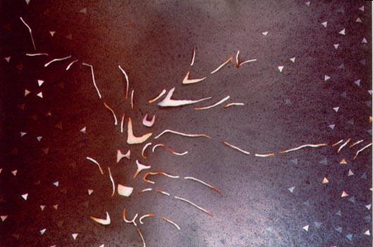 Struttura, 2000, tecnica mista su carta, cm 35x51