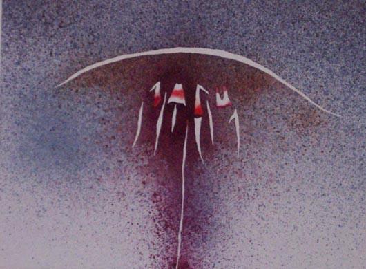 Arco, 2000, tecnica mista su carta, cm 35x51