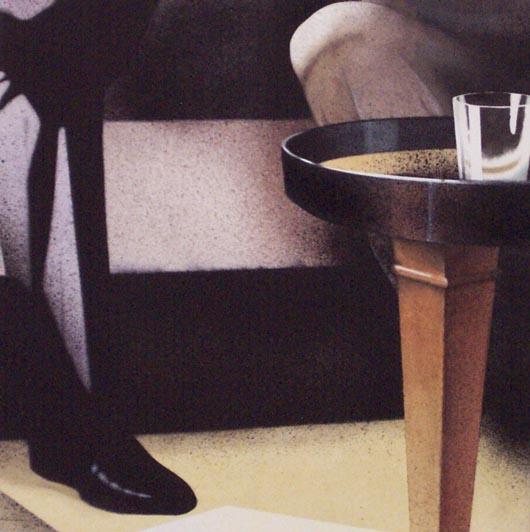 Bar, 2002, tecnica mista su carta, cm 51x51