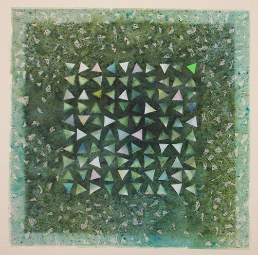 Centinaio, 1993, tecnica mista su carta, cm 40x40