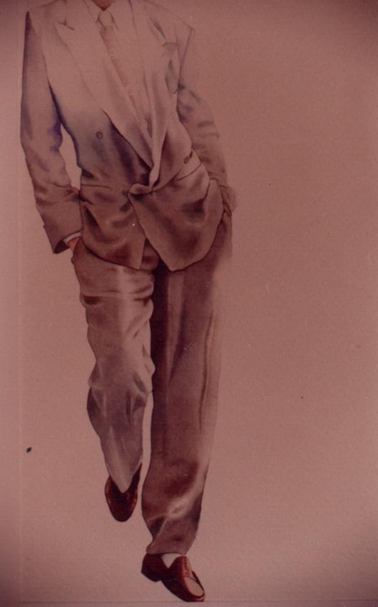 13, 1994, tecnica mista su carta, cm 100x100