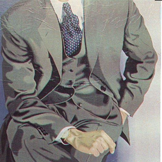 4, 1994, tecnica mista su carta, cm 100x100