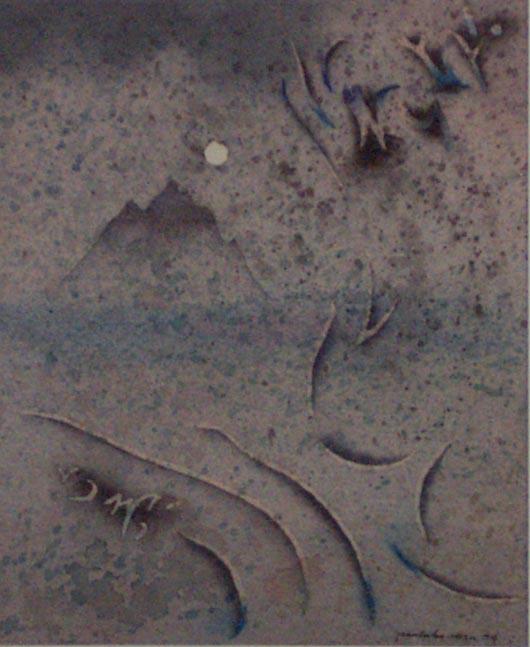 Orientale, 1995, tecnica mista su carta, cm 18x24