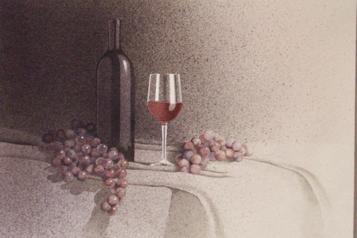 Rosata, 2002, tecnica mista su carta, cm 31x51