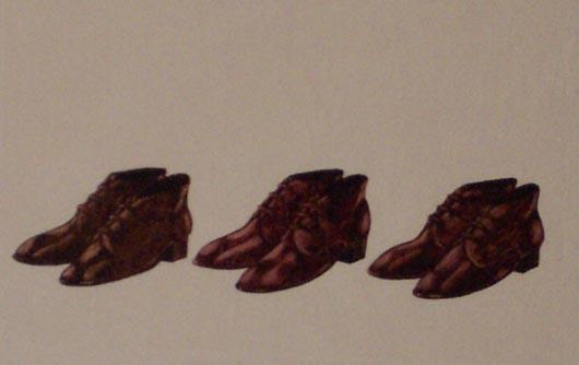 Tre paia marron, 1996, tecnica mista su carta, cm 20x30