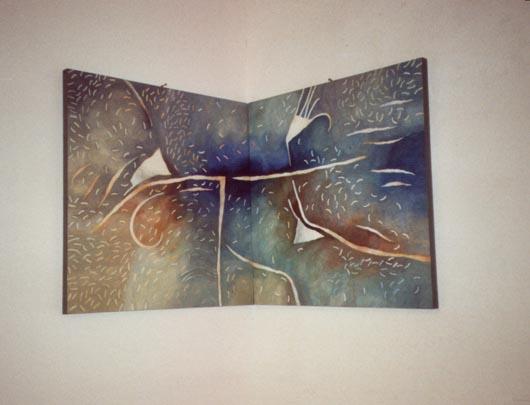 Angolare, 1989, olio su tavola, cm 60x120