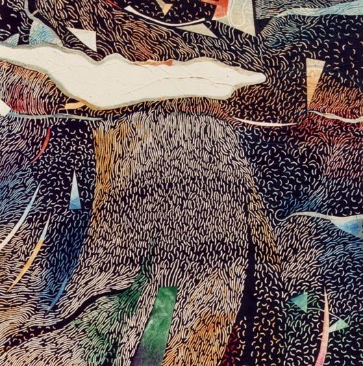La pioggia, 1988, olio su tavola, cm 100x100