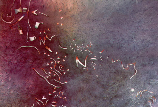 Percorso, 1991, acquarello, cm 35x51
