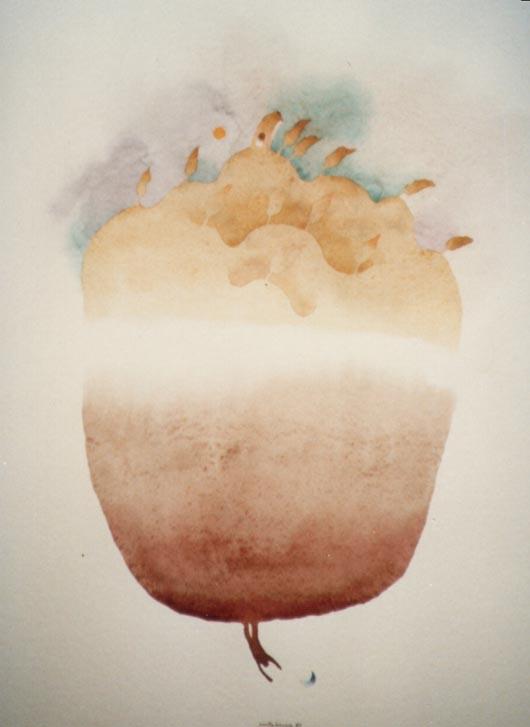 Sottosopra, 1989, acquerello, cm 28x35