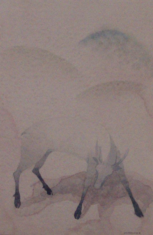 Zampe blu, 1987, acquerello, cm 35x50