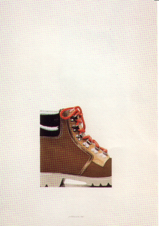 Porzione di stivaletto, 1983, acquerello, cm 20x30