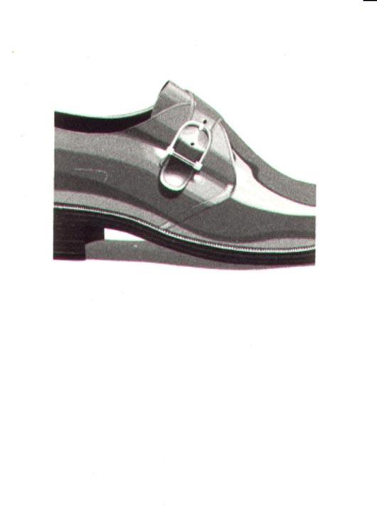 Porzione di scarpa, 1983, acquerello, cm 20x30