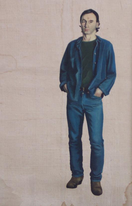 Uomo, 1980, olio su tela, cm 25x50