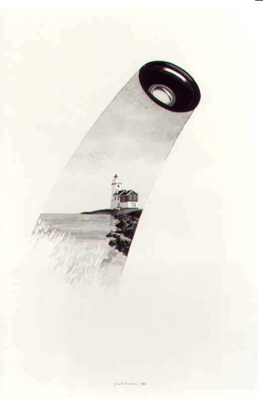 Foto 2, 1984, acquerello, cm 30x50