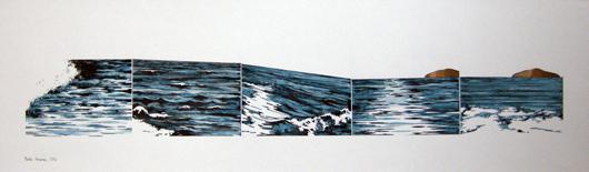 Orizzonte, 1972, inchiostro, cm 35x50