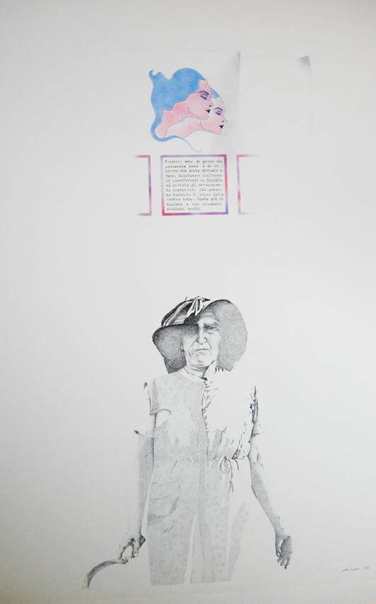 L'oroscopo, 1975, inchiostro e timbro, cm 35x50