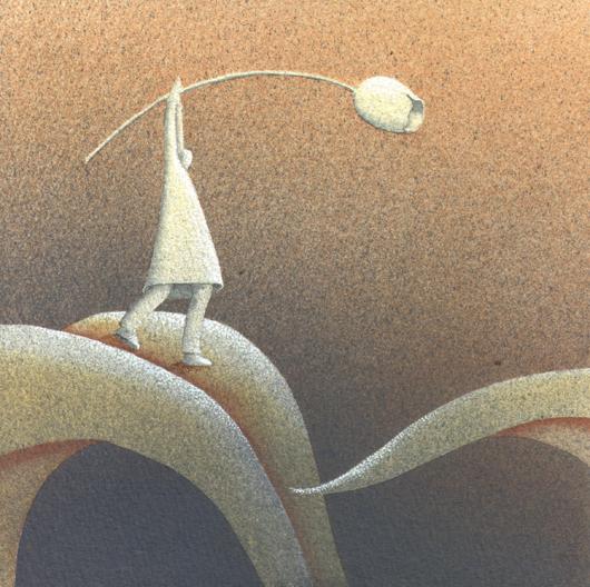 Di foglia in foglia, 2013, tecnica mista su carta, 20x20cm