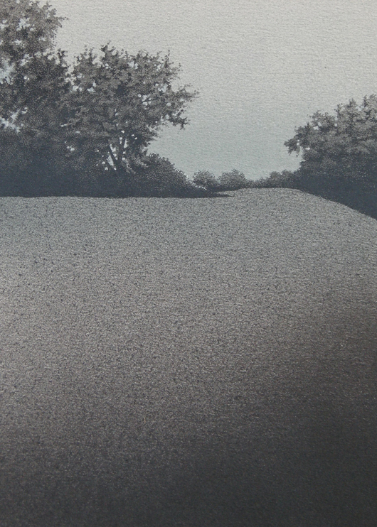 Maryon Park, 2012, tecnica mista su carta, 24×33 cm