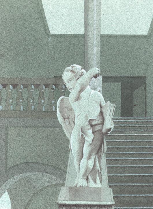 Paola Bonora, Putto di Palazzo Paradiso, 2013, tecnica mista, cm. 24x18