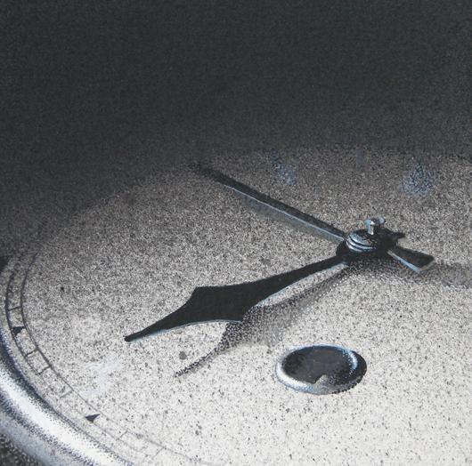 L'attesa, 2014, tecnica mista su carta, cm 12x12