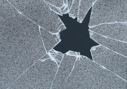 Con violenza, 2015, tecnica mista, cm 18x13