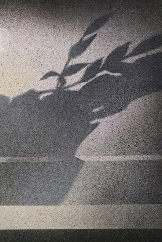 Obliquo, 2016, tecnica mista su carta, cm 35x50